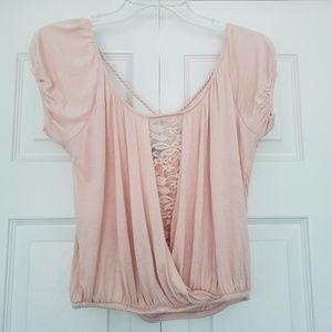 Women's Pink Short Sleeve Shirt